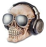 Dekofigur Gothic Totenkopf DJ