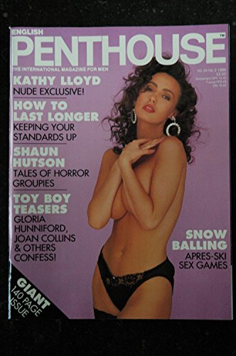 PENTHOUSE UK Vol 24 N° 03 Kathy Lloyd Tanya Prime Angela Smythe Shaun Hutson Meaty Chunks