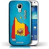 Carcasa/Funda STUFF4 dura para el Samsung Galaxy S4 Mini / serie: Naciones bandera - España Español