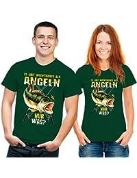 Funshirt Es gibt wichtigeres als Angeln T-Shirt grün gelb XL
