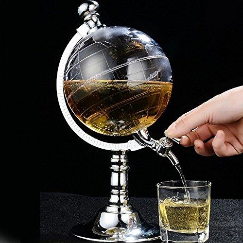 Creative globe en forme de boissons distributeur d'alcool boisson vin pompe à bière monocylindre pompe UINIAI