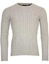 Gant Cotton Cable Crew, Pull Homme