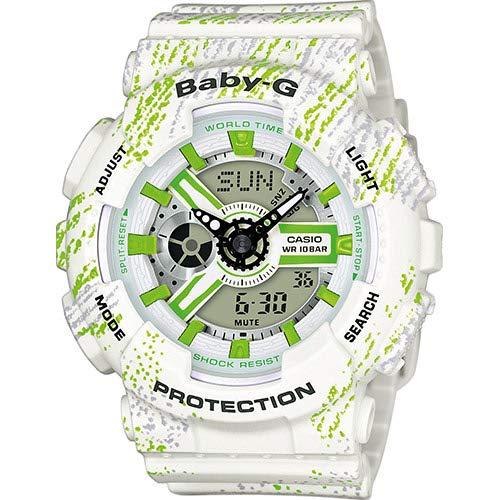 CASIO Damen Analog-Digital Quarz Smart Watch Armbanduhr mit Plastik Armband BA-110TX-7AER