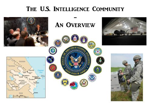 The U.S. Intelligence Community - An Overview (Annotated) (English Edition)