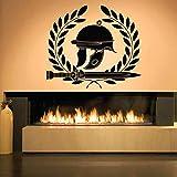 65X57cm Spada casco romano Adesivi murali per soggiorno Decorazione della casa Decalcomanie della parete del vinile Camera da letto Ragazzi Hobby Art Poster Sticker