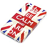 deinPhone Apple iPhone 4 4S HARDCASE Hülle Case Keep Calm and Carry On