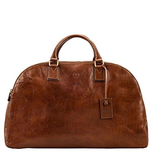 Maxwell Scott® Borsa donna in pelle italiana di lusso personalizzato (la lilianal), Dark Chocolate Brown (Marrone) - LilianaL_907_4 Classic Chestnut Tan