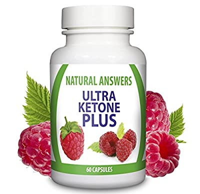Ultra Ketone Plus by Natural Answers, Pure Appetite Suppressant Formula, Maximum Strength Natural Fat Burning Pills, Quick Weight Loss Assistance, One Month Supply - Antioxidant Diet for Men and Women from Natural Answers