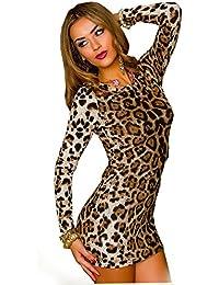 Kleid Leopard Leo Mini Kleid Minikleid Partykleid Gr. S/M 36 38