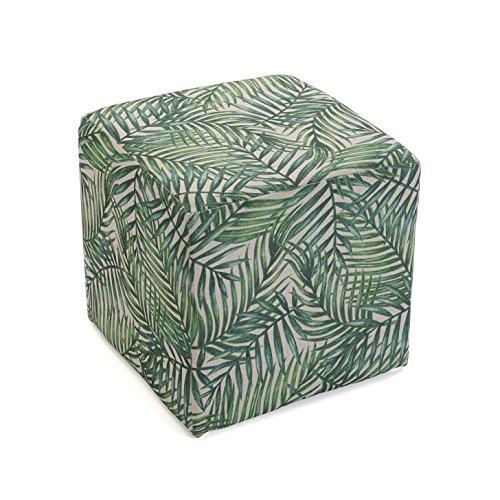 Versa 21350212 Taburete cubo puff asiento Milhojas,35x35x35, Verde, Re