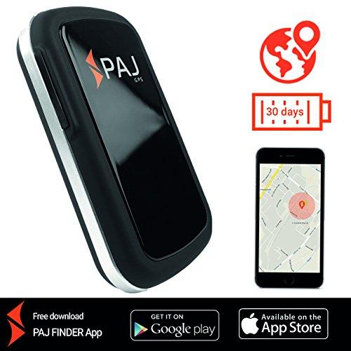 Allround Finder von PAJ GPS Tracker zur Live Ortung von Personen und Fahrzeug KFZ mit bis zu 30 Tagen Akku NEU Gratis SMS App für iOS und Android (Gps-spy-tracking-geräte)