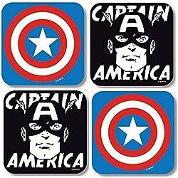 Marvel Posavasos de Retro Comics diseño de juego de 4 de Capitán América