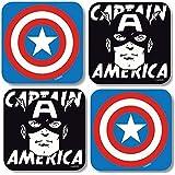 Marvel Comic - Retro Untersetzer 4er Set (Captain America)
