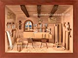 3D Holzbild Zimmerei, lasiert