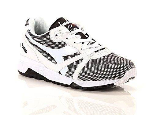 Diadora N9000 Arrowhead, Sneaker Bas du Cou Mixte Adulte, Opt. White/Black Blanc Cassé (Bianco Ottico/nero)