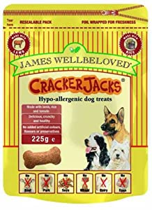 James Wellbeloved Crackerjacks Dog Treat - Duck 225g from Pet-Bliss