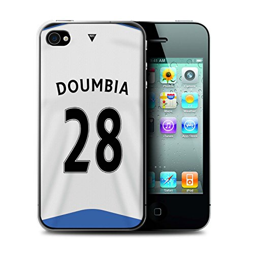 Offiziell Newcastle United FC Hülle / Case für Apple iPhone 4/4S / Pack 29pcs Muster / NUFC Trikot Home 15/16 Kollektion Doumbia