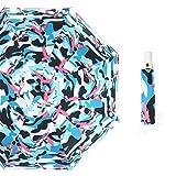 Ombrello da Golf Pieghevole, Ombrello da Viaggio Grande e Compatto,Ombrello Automatico reticolare in plastica Nera Ripiegabile in plastica Nera Colore 14 100 cm