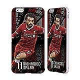 Head Case Designs Offizielle Liverpool Football Club Mohamed Salah 2017/18 Erstes Team Gruppe 1 Silber Rahmen Hülle mit Bumper aus Aluminium für Apple iPhone 6 Plus/iPhone 6s Plus