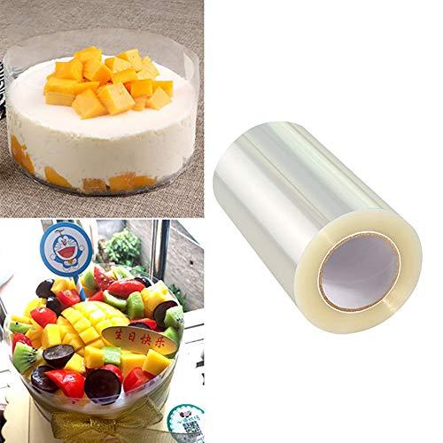 Acetato foglio da forno cioccolato mousse trasparente rotolo, 8cm x 10m 125 micron, stampi per torte, pasticceria, dolci e alimenti