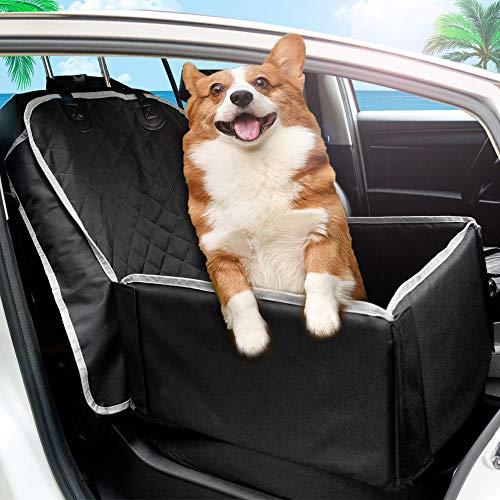 tz für kleine bis Mittlere Hunde und Haustiere Wasserdicht Hundesitz Auto mit Sicherheits-Leine autositzbezug für Hunde Tragbare Autositze Hund praktischen Hunde sitzbezug ()