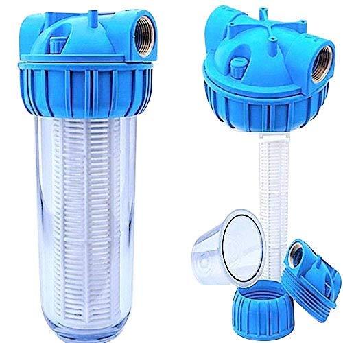 Basal PRIESER Pumpen-Vorfilter, Wasserdurchfluss bis 5.000 l/h mit Wandhalterung und Filterschlüssel