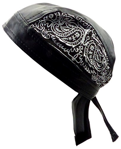 Kopftuch Herren Damen Kopf-Tuecher schwarz Biker Gothic Paisley-Motiv Head-Scarf black Theme Paisley (Schwarze Hut Biker)