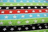 Stoff / 50cmx140cm / Kinder / beste Jersey-Qualität / Jersey SD Streifen Sterne schwarz grün blau rot