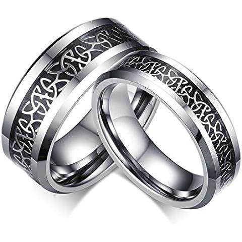 Alimab gioielli anelli donna Acciaio inossidabile banda nozze Geltic nodo