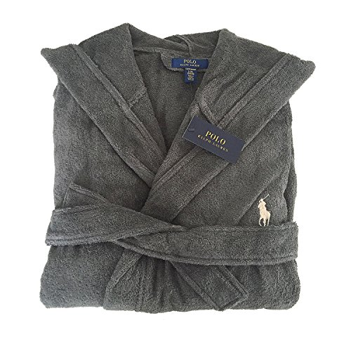 Preisvergleich Produktbild Polo Ralph Lauren Bademantel mit Kapuze Hooded Bathrobe S / M Combat Grey (004)