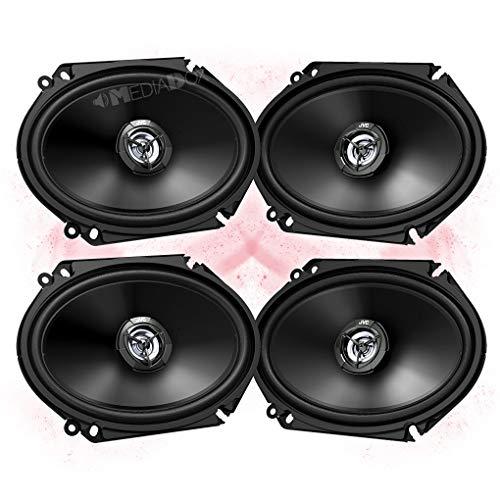 JVC Front/Heck 5x7/15x20cm Auto Lautsprecher/Boxen/Speaker Komplett-Set für Ford