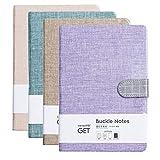 TIANSE Klassisch Liniert Notizbuch mit Band-Lesezeichen, Notizblöcke, Lined notebook Reise-Tagebuch, 12 x 17 cm, 128 Seiten (4er Pack) MEHRWEG