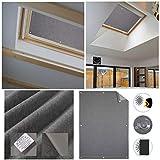 HDM 96x100 cm Gris Foncé Store pour Fenêtre de Toit avec Ventouse Rideau de Velux...