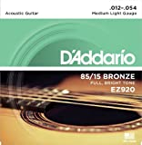 #6: D'Addario EZ920 85/15 Bronze Medium Light Acoustic Guitar Strings