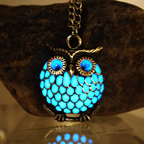 Neu The Owl Luminous Halskette Hollow Owl Halskette Glow In The Dark Night Leuchtende Geschenk-frauen Halskette (Night Cosplay Owl)