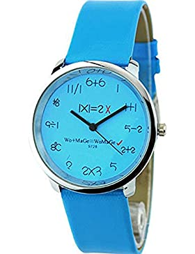 Mathematik Dial Quartz Damen Uhr Fashion Armbanduhr Blau