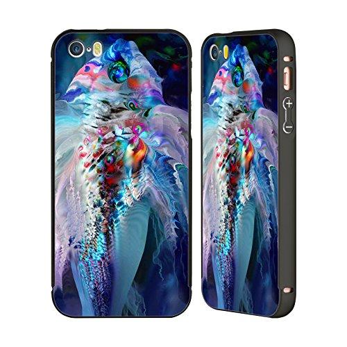 Ufficiale Runa Pesce Rosso Creature Del Mare Nero Cover Contorno con Bumper in Alluminio per Apple iPhone 5 / 5s / SE Pesce Magixo