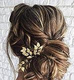 Lot de 3 épingles à cheveux en forme de feuille de mariée fabriquées à la main pour mariée, demoiselle d'honneur, bohème