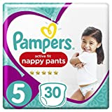 Pampers - Active Fit Pants - Couches-culottes Taille 5 (12-17 kg) - Pack Géant (x30 culottes)