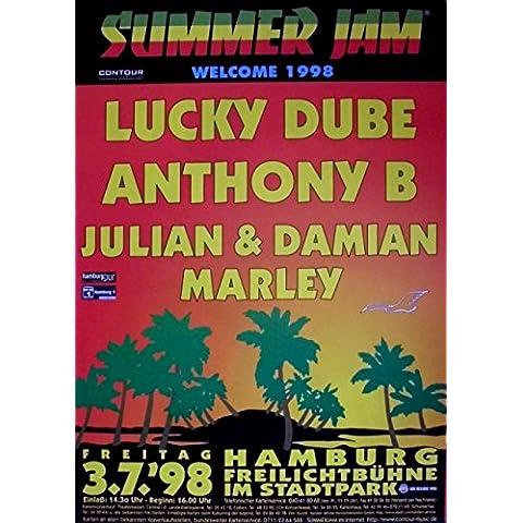 SUMMER JAM - -{1998} concerto Poster - Lucky Dube - Anthony B - Marley - Amburgo