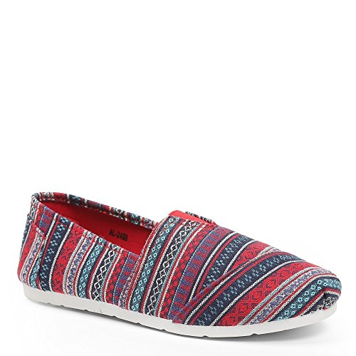 Stil blau Shoes Blau bedruckt Espadrilles Kacie Ideal nbsp;锟� on nbsp;slip FXfqczTT7R