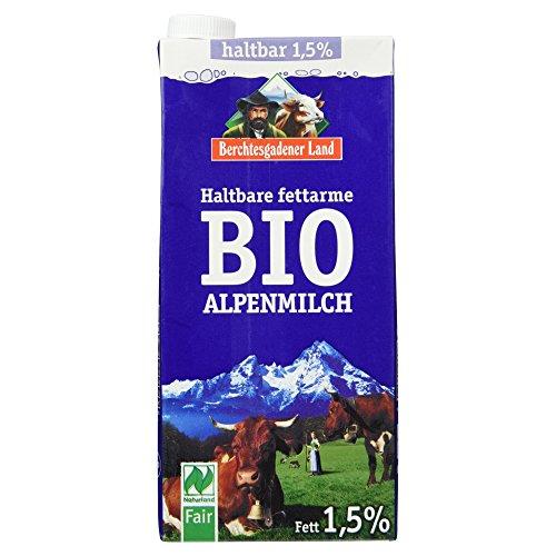 Berchtesgadener Land Haltbare Bio-Alpenmilch 1,5%, 1 l