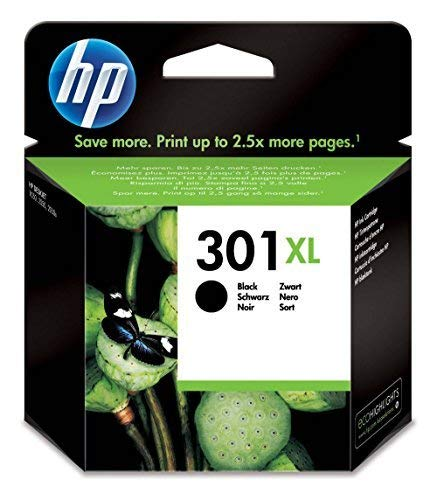 Hp 301 xl nero (ch563ee) cartuccia originale per stampanti hp a getto di inchiostro, compatibile con stampanti hp deskjet 1050; 2540 e 3050; hp officejet 2620 e 4630; hp envy 4500 e 5530