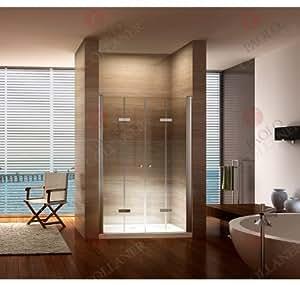 Porte pliante, plage de réglage de 80-84 cm, porte de douche avec verre de sécurité 6 mm nano-revêtement, prix de lancement.