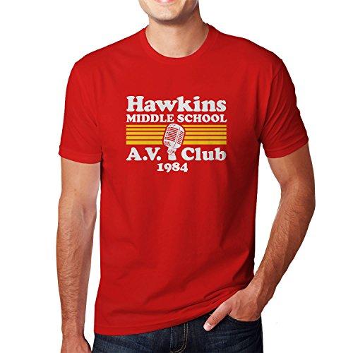 Planet Nerd Hawkins Middle School - Herren T-Shirt Rot