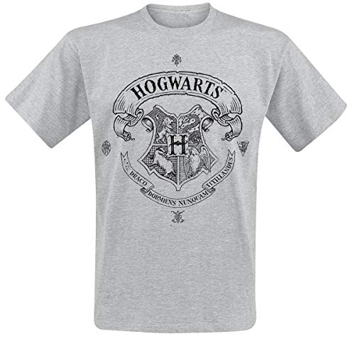 HARRY POTTER Hogwarts T-Shirt grau meliert M