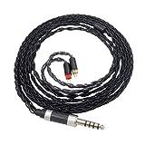 Deylaying Remplacement D'écouteur Écouteur Jack - Câble Audio de Rechange avec 4,4 mm Straight Plug avec 0.78mm 2-Pins Adaptateur pour Sony TA-ZH1ES PHA-2A NW-ZX300A NW-WM1Z NW-WM1A Audio-Technica ES10 ES20 ES30