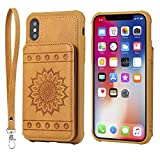 DENDICO Coque iPhone X/XS, Ultra Fine Housse en Cuir pour Apple iPhone X/XS, Coque de...