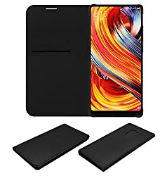 Acm Premium Flip Flap Case for Xiaomi Mi Mix 2 Mobile Front & Back Cover Black