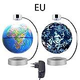 Magnetische Schweben Floaten Weltkarte Globus,Magnetische Aufhängungsglobus 8 Zoll Lichtrotations Sternbildkugel Haus Dekoration